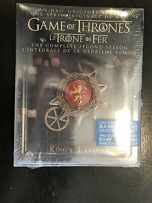 Game of Thrones: Season 2 (Blu-ray Limited Edition Steelbook) Brand New