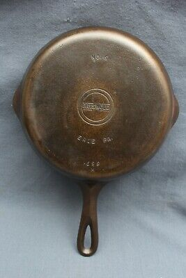 Vintage GRISWOLD Cast Iron SKILLET Frying Pan # 6 SMALL  BLOCK LOGO - Restored