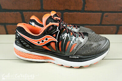 0ee1f492 SAUCONY HURRICANE ISO 2 Womens Size 9 Running Shoes Black/Gray/Pink ...