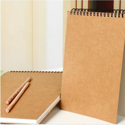 A5 Hard Cover Painting Paper Art Sketchbook Sketch 30 Sheets Pad Journal Drawing