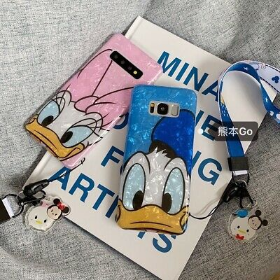 Cute Daisy Donald Duck strap soft case Cover for Samsung galaxy S10+ S9+ note 9
