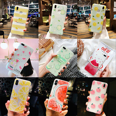 Soft Matte Fruits For iPhone X 8 6s 7 Plus Cute Pattern Slim Case Cover Relief