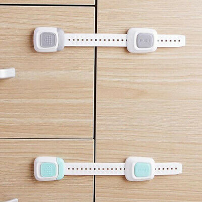 Multifunctional Dual Button Safety Lock Protection Drawer Refrigerator Lock