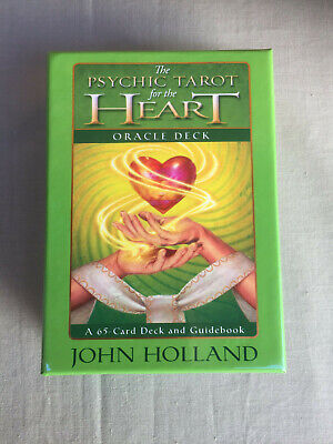 The PSYCHIC TAROT for the HEART ORACLE CARDS John Holland 65 Cards & Guidebook