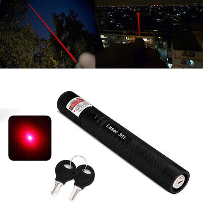 Military High Power Red Laser Pointer Pen 5mw 650nm Burn Visible Beam Focus