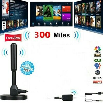 300 Mile HDTV Indoor Antenna Aerial HD Digital TV Signal Amplifier Booster/Cable