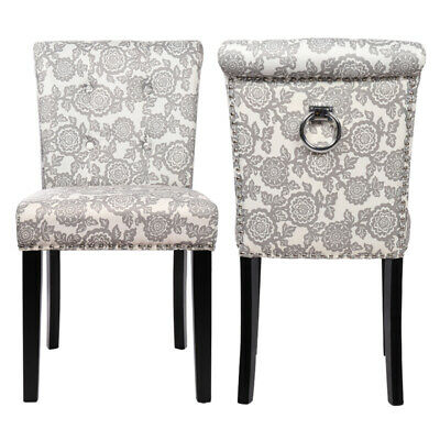 2pcs Accent Chair Dining Chairs Linen Fabric Side Chair Dressing Home Restaurant