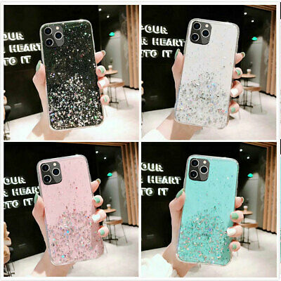 iPhone XR XS Max 7 8 Case Glitter Bling Clear Armor Heavy Duty Shockproof Cover