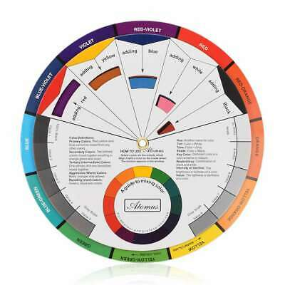 Pocket Size Color Wheel Paper Card Paint Mix Learning Guide Artist Chart Wheel