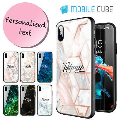 iPhone X XS Max XR 8 7 Plus  Marble Shockproof Personalised Name Case  For Apple