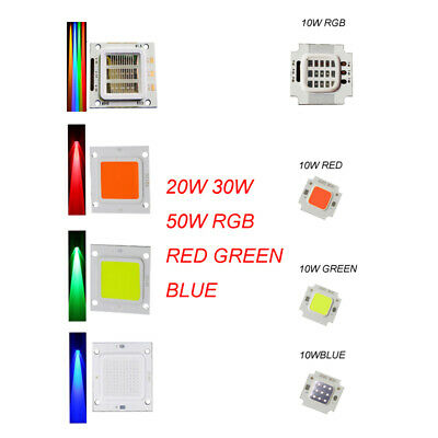 10/20/30/50W High Power LED Chips Red/green/Bule/RGB SMD COB for Spot Light