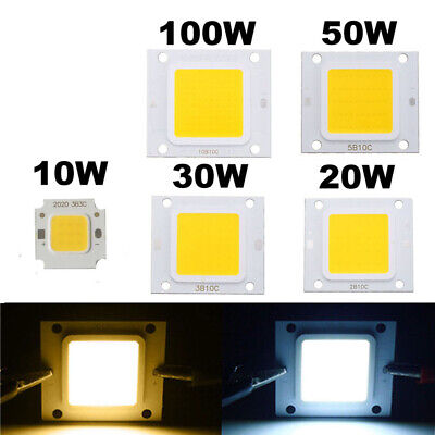 50X 10X 1X LED Chip 10W 20W 30W 50W 100W Cold/Warm LED COB Chip Lights Beads