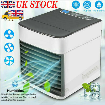 Mini Air Cooler Portable Conditioner 3 in 1 Fan Humidifier Evaporate Cool LED UK