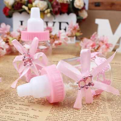 12Pcs Fillable Bottles Candy Box Baby Shower Baptism Party Favour Christening