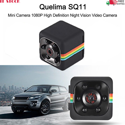 Quelima SQ11 Mini Camera 1080P Full HD Car DVR Telecamera nascosta DVR B6P3