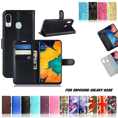 For Samsung Galaxy A20E Phone Case Leather Folio Wallet Book Stand View Cover