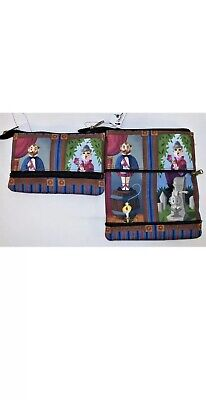 Disney Parks Haunted Mansion Stretching Room Zipper Clutch Bag Purse Pouch NEW