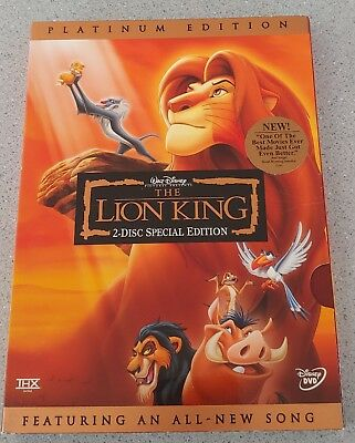 The Lion King Disney DVD 2003 2-Disc Set Platinum Edition w/ Morning Report NICE