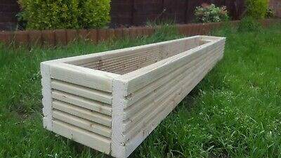 high standard WOODEN DECKING PLANTER BOXES Garden 120cm x 17cm x 17cm