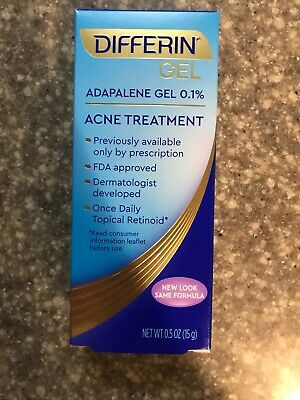 One Tube Of Differin Adapalene Gel 0.1% Retinoid Acne Treatment Exp 07/2021