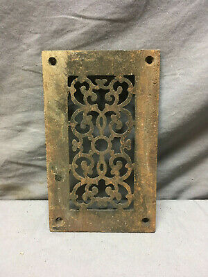 Antique Cast Iron Fireplace Grill Grate 7x4 Wall Ceiling Vent Old Vtg 436-19L