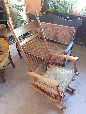 1800s Antique Rocking glider Chair Pat date May 1878