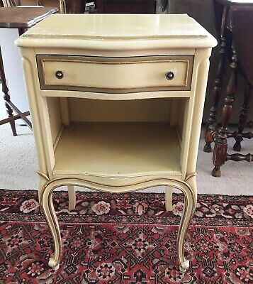 "28"" inch Tall Vintage French Louis XV style Drexel Ivory color Nightstand"