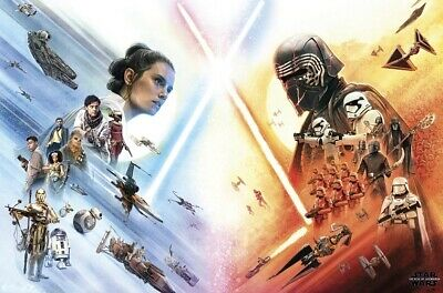 "Star Wars The Rise Of Skywalker Poster Rey VS Kylo Art Print 11x17"" 14x21"" 18x24"
