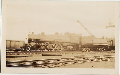 Vtg Early 1930s Real Photo Iconic Erie Railroad 4-6-2 Steam Engine Train #2726