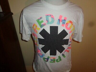 M/L Mens 2011 RHCP Red Hot Chili Peppers Band 1-sided Colorful concert t-shirt