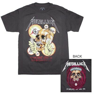 a2f7fcee68ae Metallica Shortest Straw Gray T-Shirt Men's Officially Licensed Band Tee