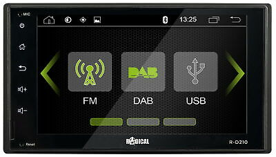Doppel-DIN 2-DIN DAB+ Auto Radio Moniceiver Touch Screen Bluetooth UKW USB SD