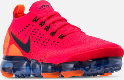 Nike Air Vapormax Flyknit 2 Running Shoes Red /Obsidian Blue  Sz 10.5 AR5406 600