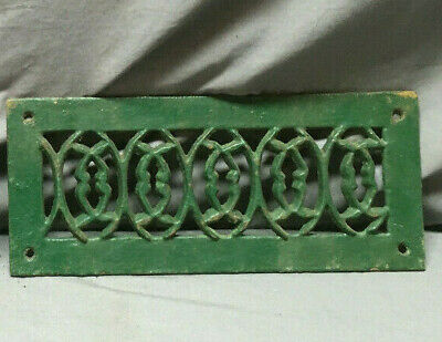 1 Antique Cast Iron Fireplace Grill Grates 12x5 Wall Ceiling Vent 442-19L