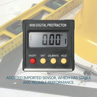 Mini Digital Protractor Angle Inclinometer Bevel Gauge Box Finder Electronic Lcd