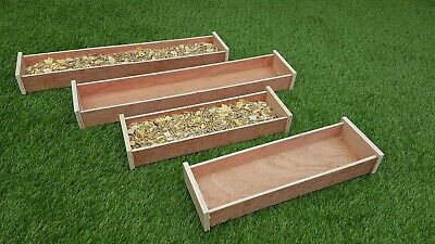 Two Hay / Food Troughs (1× Large  1× Small). Ideal For Rabbits And Guinea Pigs
