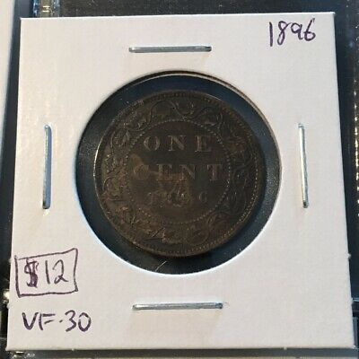 1896 1 Cent Canada MUST SEE   No Reserve!  (Coin #121)