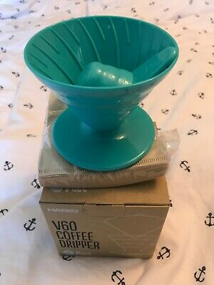Hario V60 Coffee Dripper Kit In Teal.