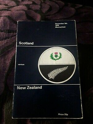 1978-Scotland V New Zealand-All Blacks-International-Grand Slam Tour-Rugby Prog