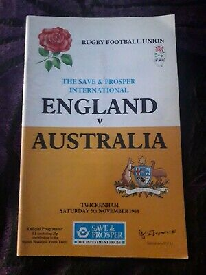 1988-England V Australia-Wallabies-International Tour-Rugby Union Programme