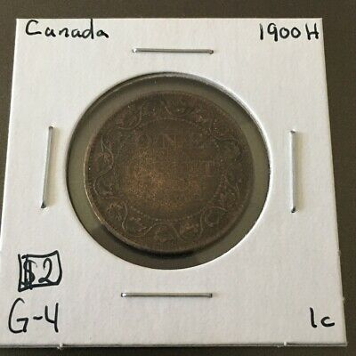 1900H 1 Cent Canada MUST SEE   No Reserve!  (Coin #26)