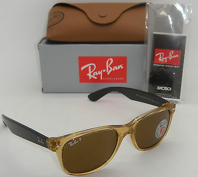 Ray Ban Rb 2132 945/57 55Mm New Wayfarer Honey W/ Crystal Brown Polarized Lens'