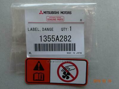 Mitsubishi Cp9A Evo 6 Tommi Makinen Warning Label Fan 1355A282 Jdm Spares Export
