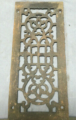 1 Antique Cast Iron Fireplace Grill Grates 12x5 Ceiling Vent Old Vtg 448-19L