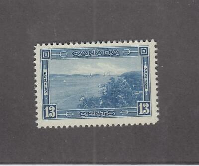 CANADA (MK3486) # 242 VF-MNH 13cts  HALIFAX HARBOUR /BLUE/ 1938 CAT VALUE $40