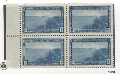 CANADA (MK3528) # 242  VF-MH  13cts  HALIFAX HARBOUR / BLOCK OF 4 CAT VALUE $80