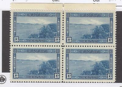 CANADA (MK3363) # 242 VF-2MNH/2VLH  13cts  HALIFAX HARBOUR BLOCK OF 4 CAT $100