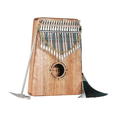 17 Keys Kalimba African Solid Wood Thumb Finger Piano Percussion Gifts Y9T5