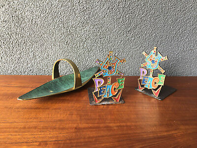 2 Tray Bookend Israel Mid Century Modern Seibel Jenfred Pal Bell Eames