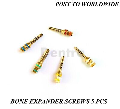 Bone Expander 5 Pcs Screws Dental Implant Sinus Lift Surgical Hex Tools New